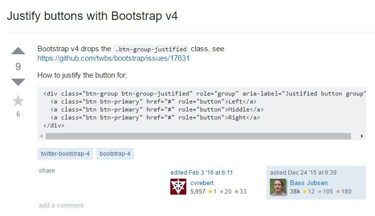 Support buttons  through Bootstrap v4
