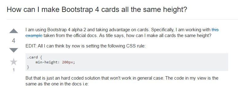 Insights on  exactly how can we  build Bootstrap 4 cards  all the same  height?