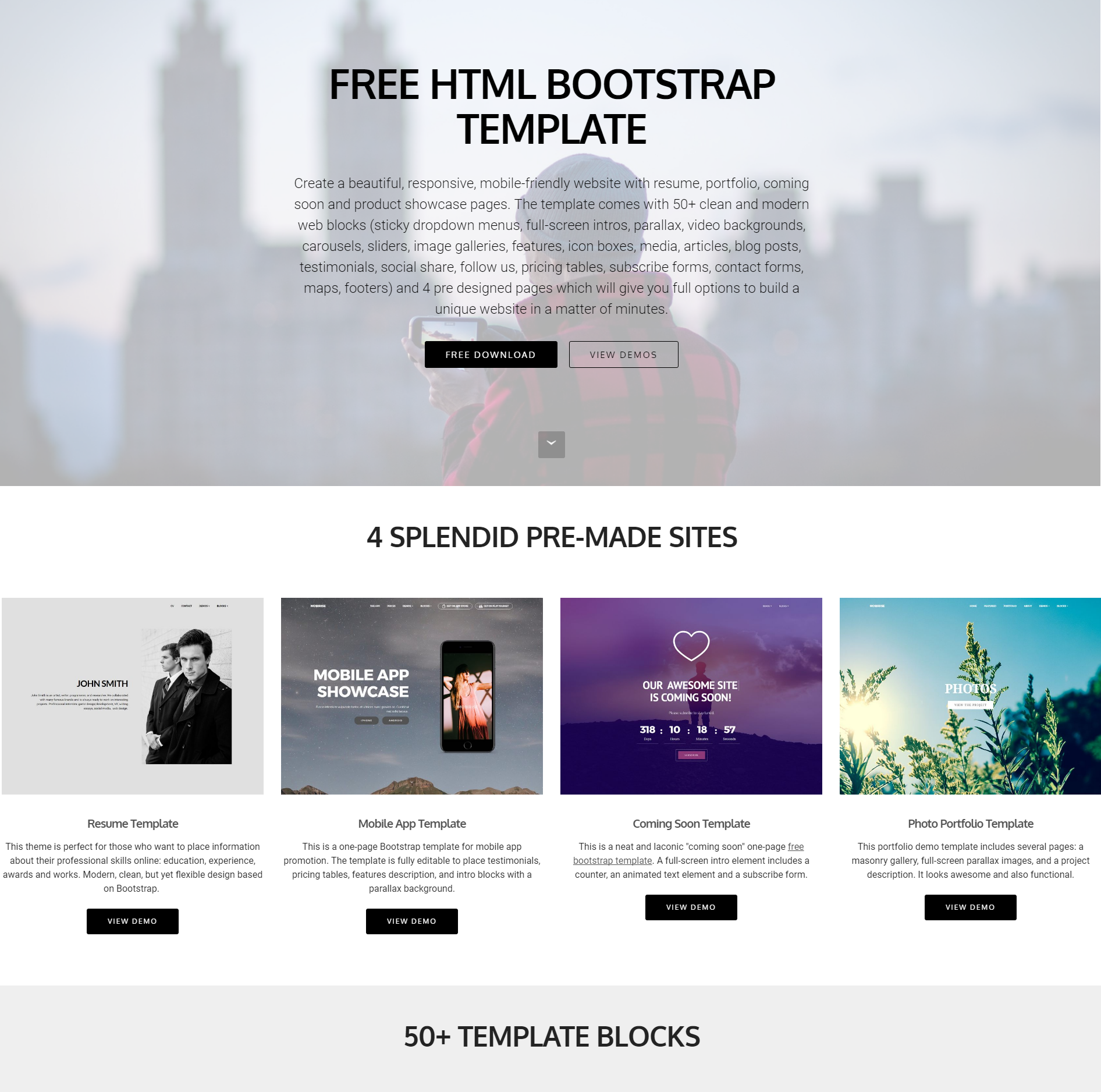 30+ Free HTML5 Bootstrap Templates of 2018 That Will Wow You