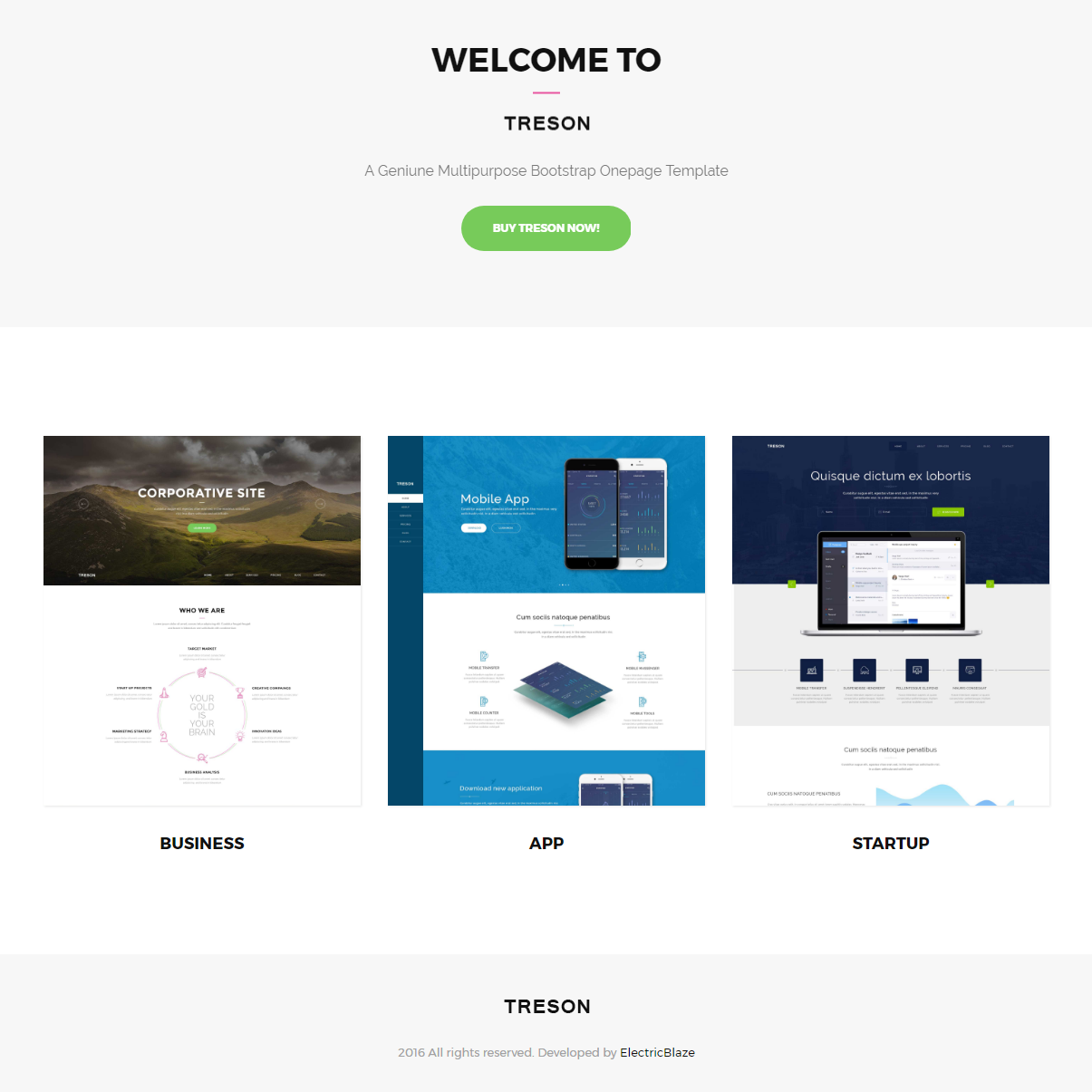 Free Download Bootstrap Treson Themes