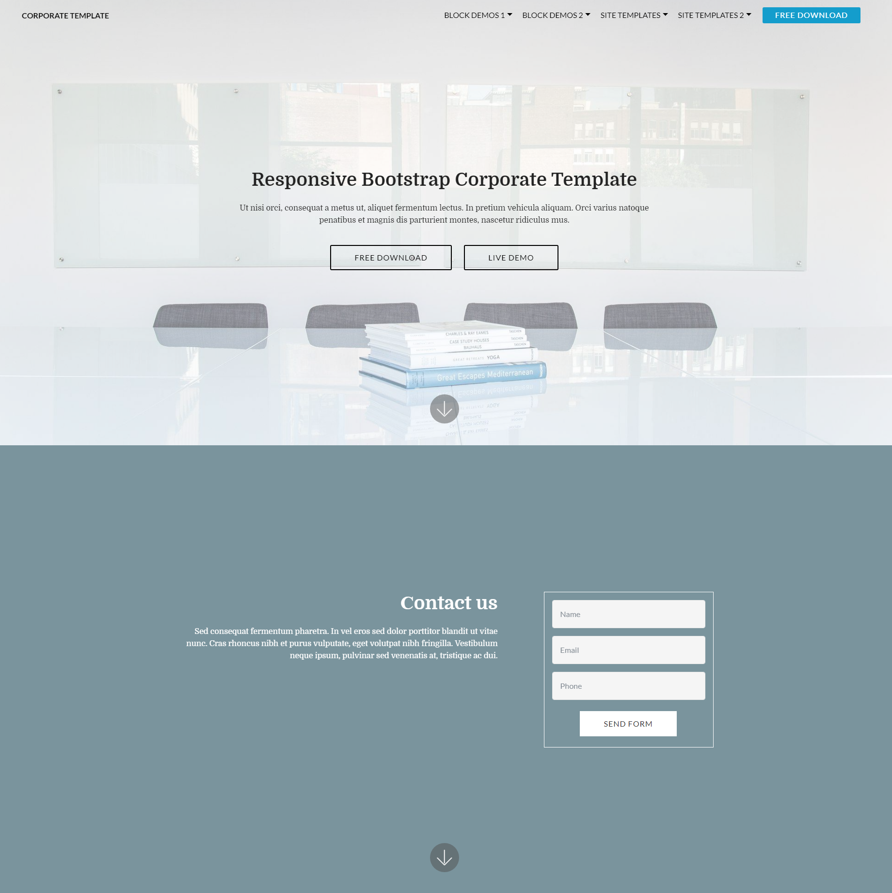 30 free html5 bootstrap templates of 2018 that will wow you css3 bootstrap corporate themes free template download cheaphphosting Choice Image