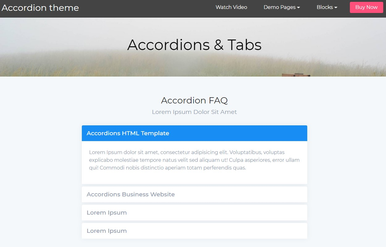 Creative Accordion Tabs