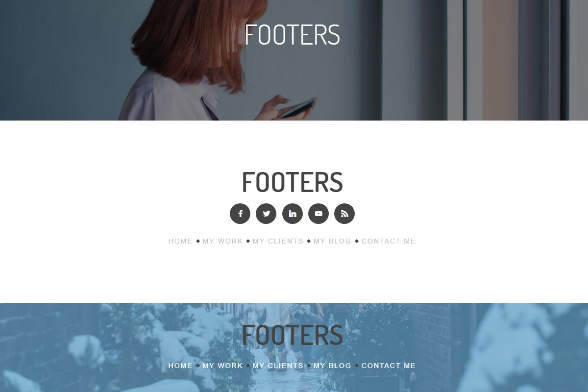 Mobile-friendly Footer