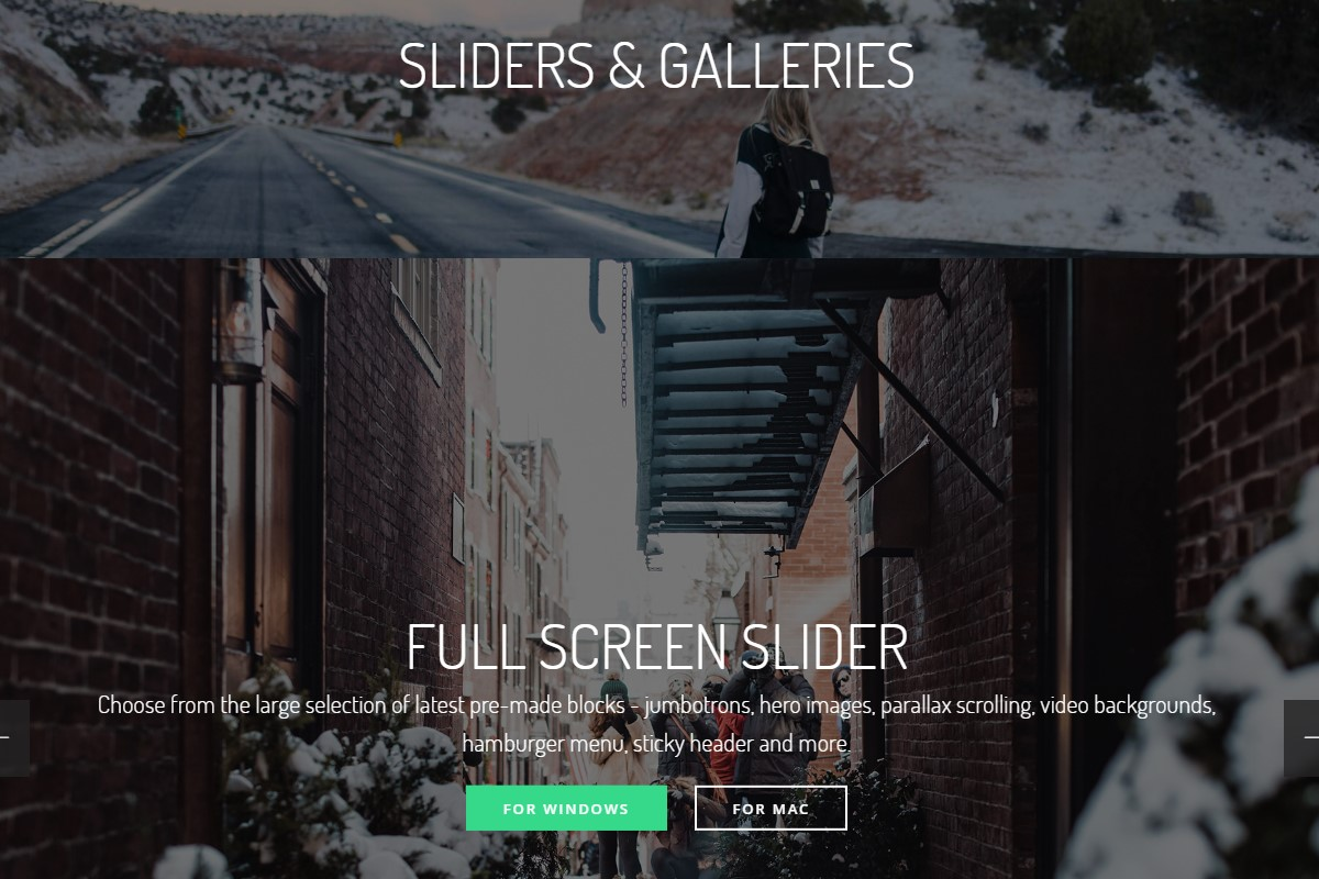 Bootstrap Sliders and Galleries