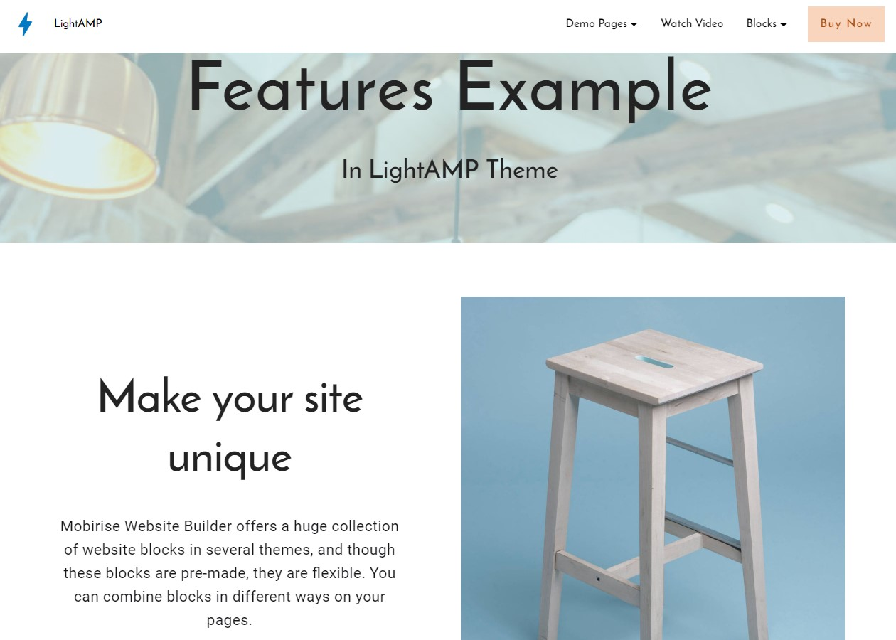 LightAMP Features Template