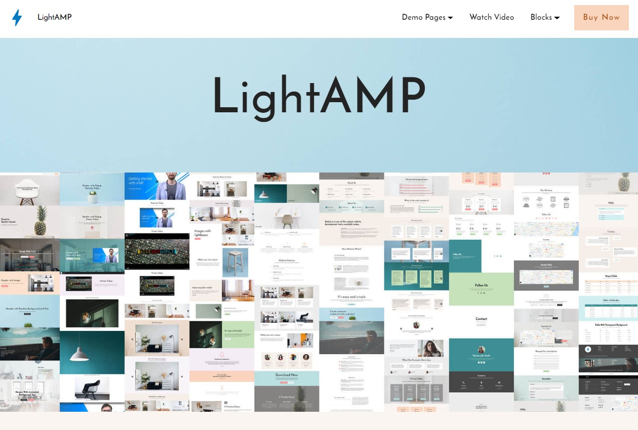 LightAMP HTML Template