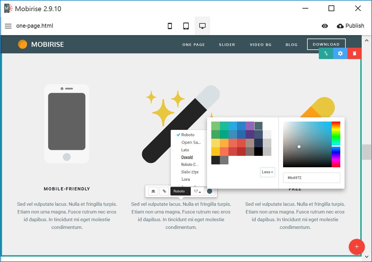 Bootstrap Mobile Website Maker Software