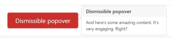 Dismiss on  coming click