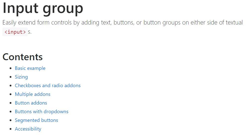 Bootstrap input  authoritative  documents