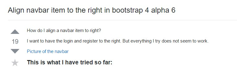Regulate navbar item to the right  within Bootstrap 4 alpha 6