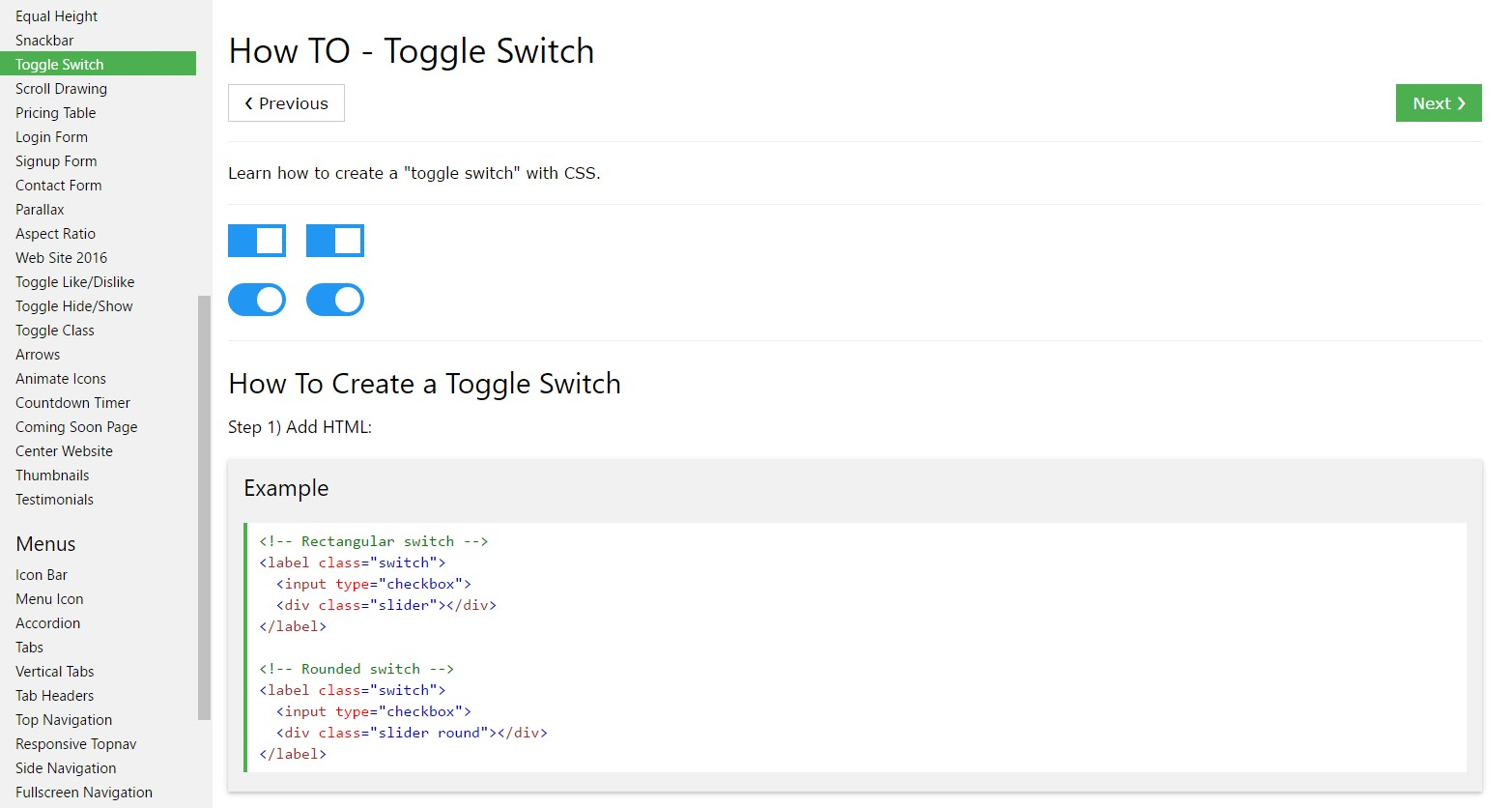 Exactly how to  develop Toggle Switch