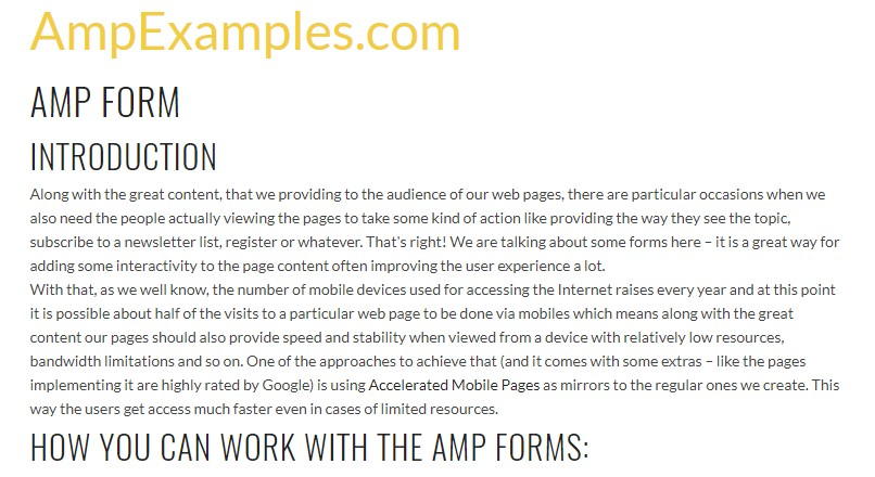 Why don't we  inspect AMP project and AMP-form element?