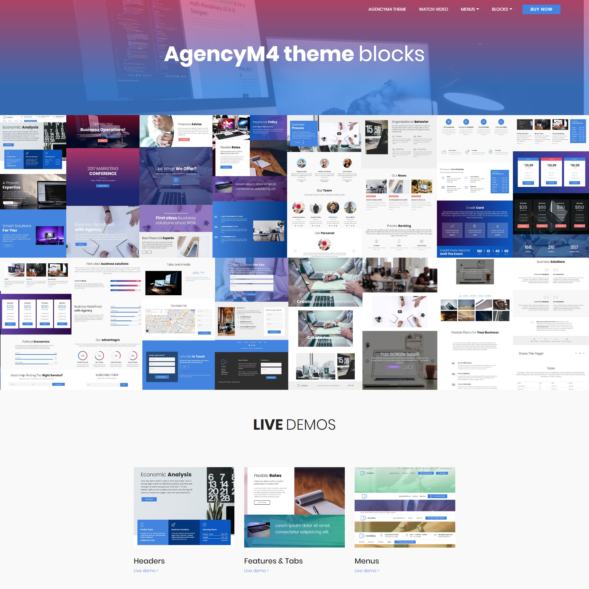 HTML Bootstrap AgencyM4 Templates