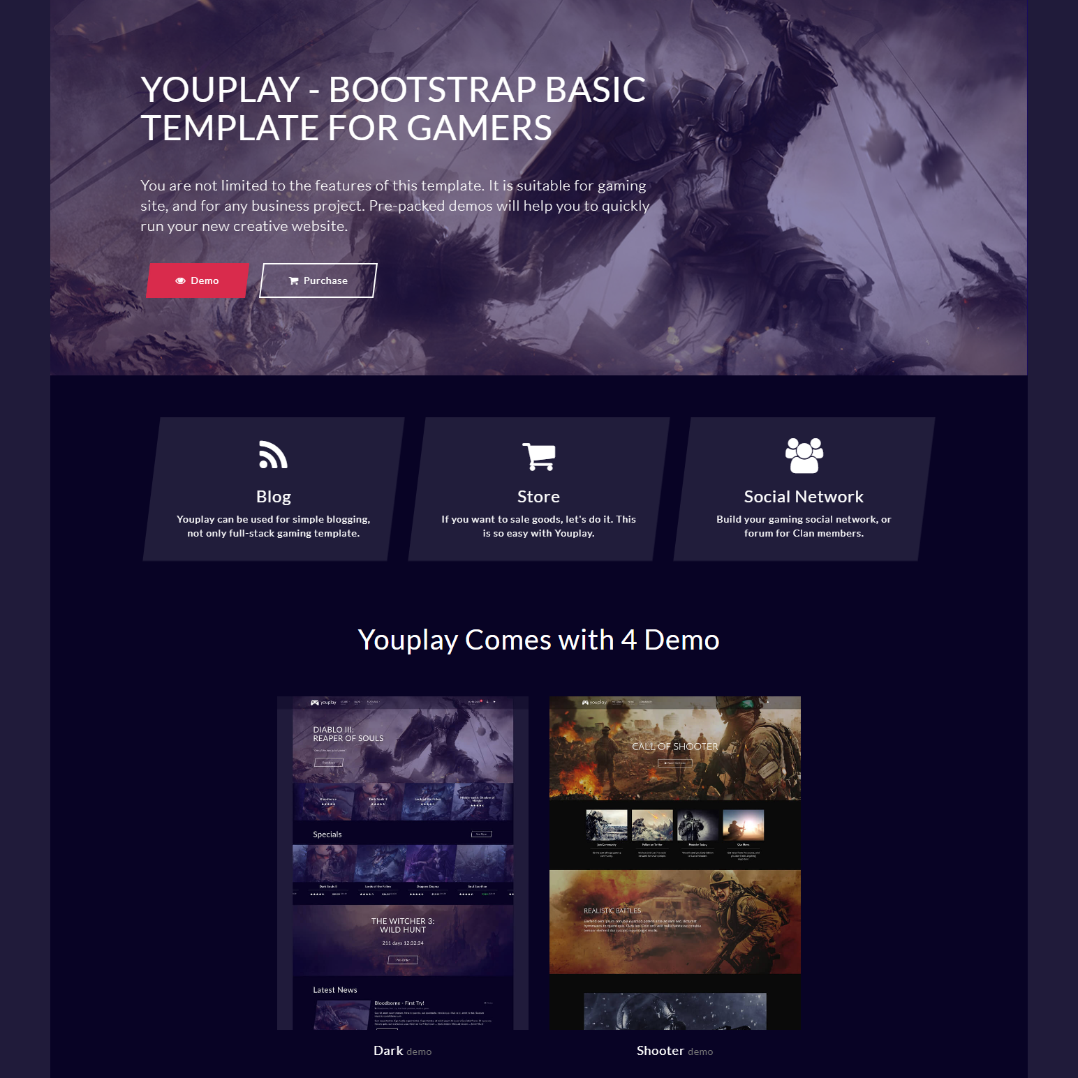 CSS3 Bootstrap YouPlay Templates