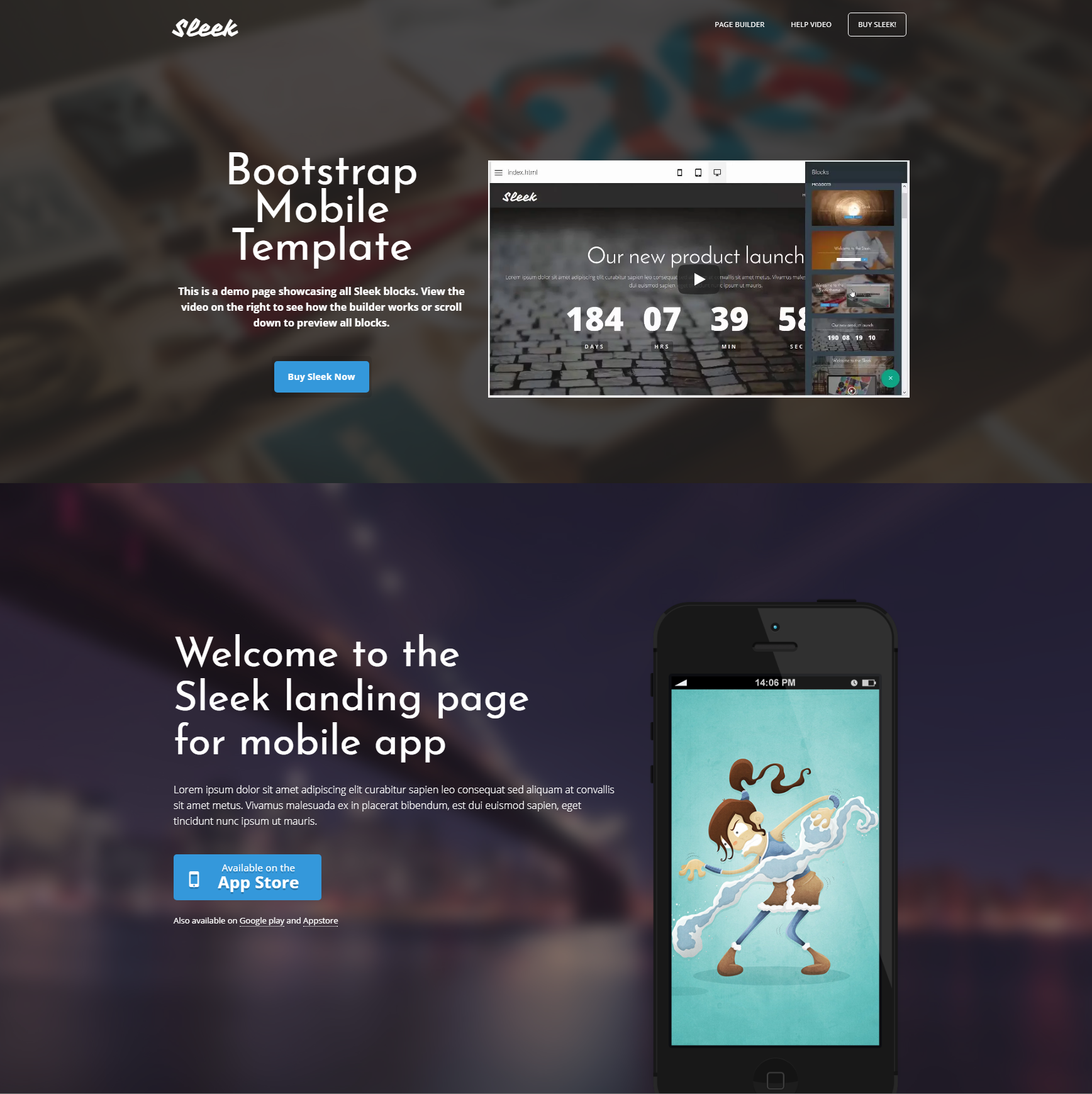 Free Bootstrap Mobile Templates