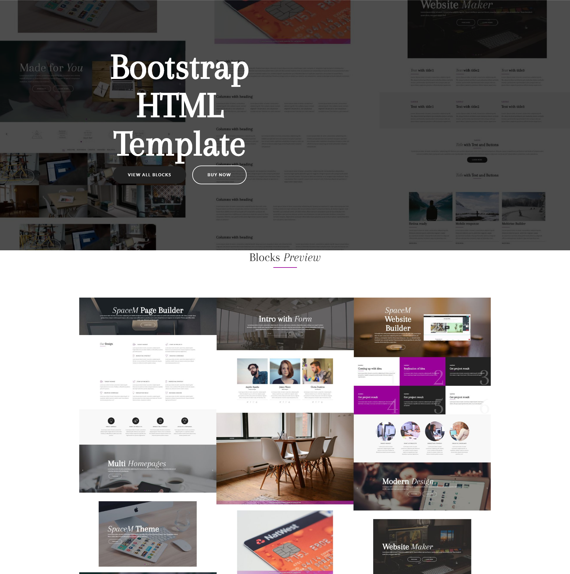 CSS3 Bootstrap HTML Templates