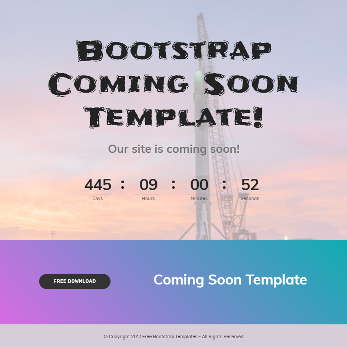 CSS3 Bootstrap Coming Soon Templates
