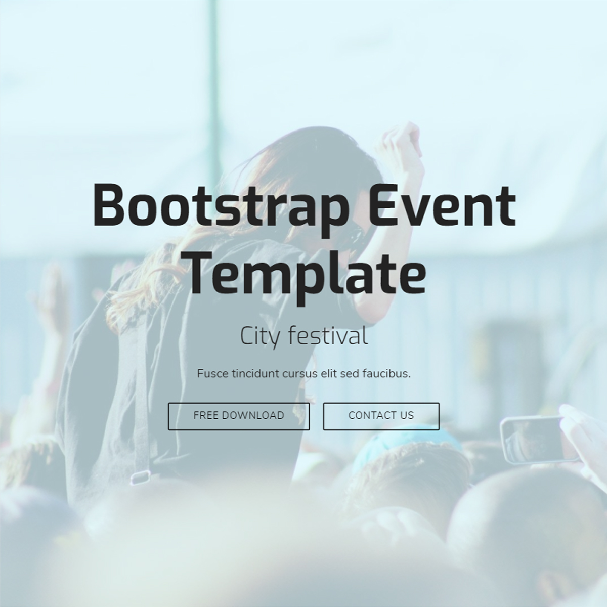 HTML Bootstrap Event Templates