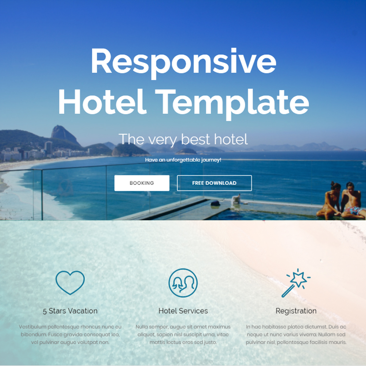 Responsive Bootstrap Hotel Templates