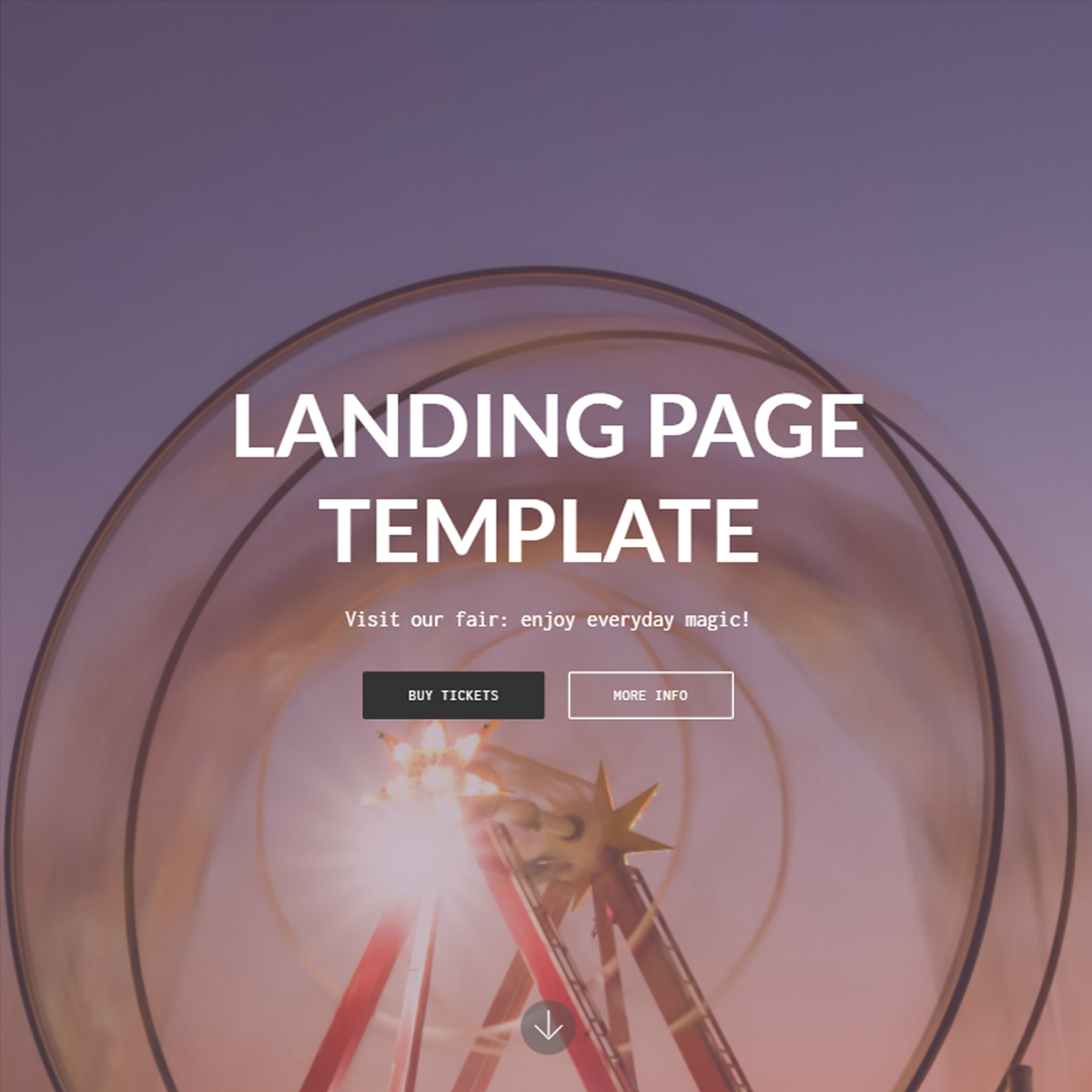 CSS3 Bootstrap Landing Page Themes