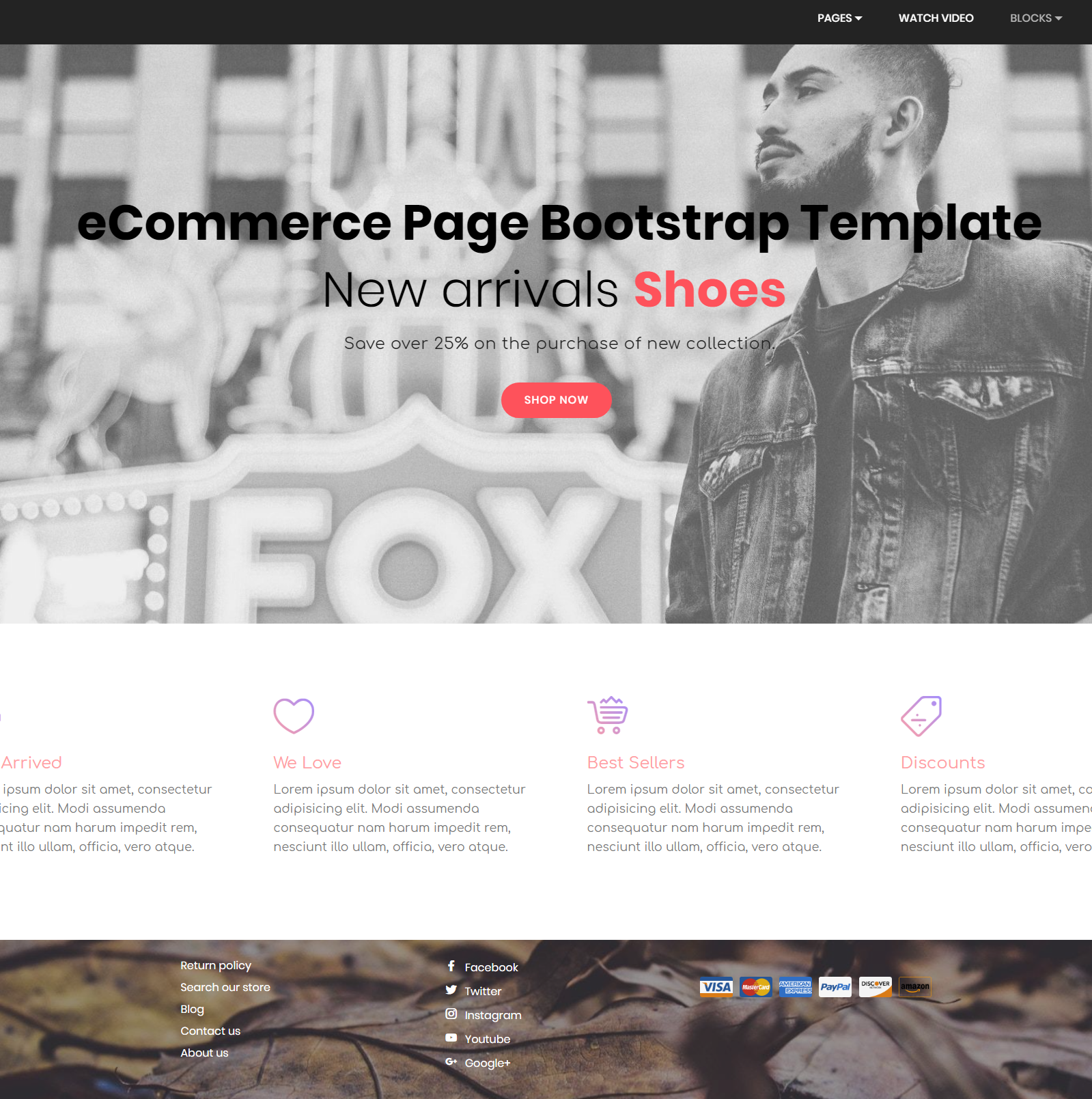 HTML5 Bootstrap eCommerce Themes