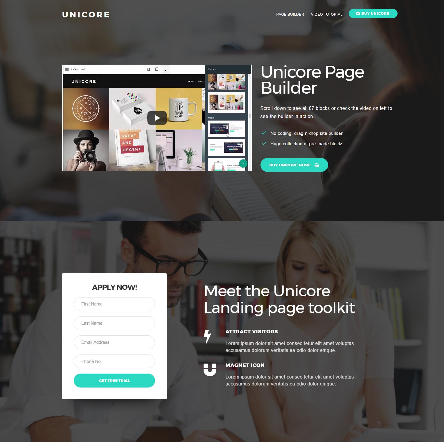 HTML5 Bootstrap Unicore Themes