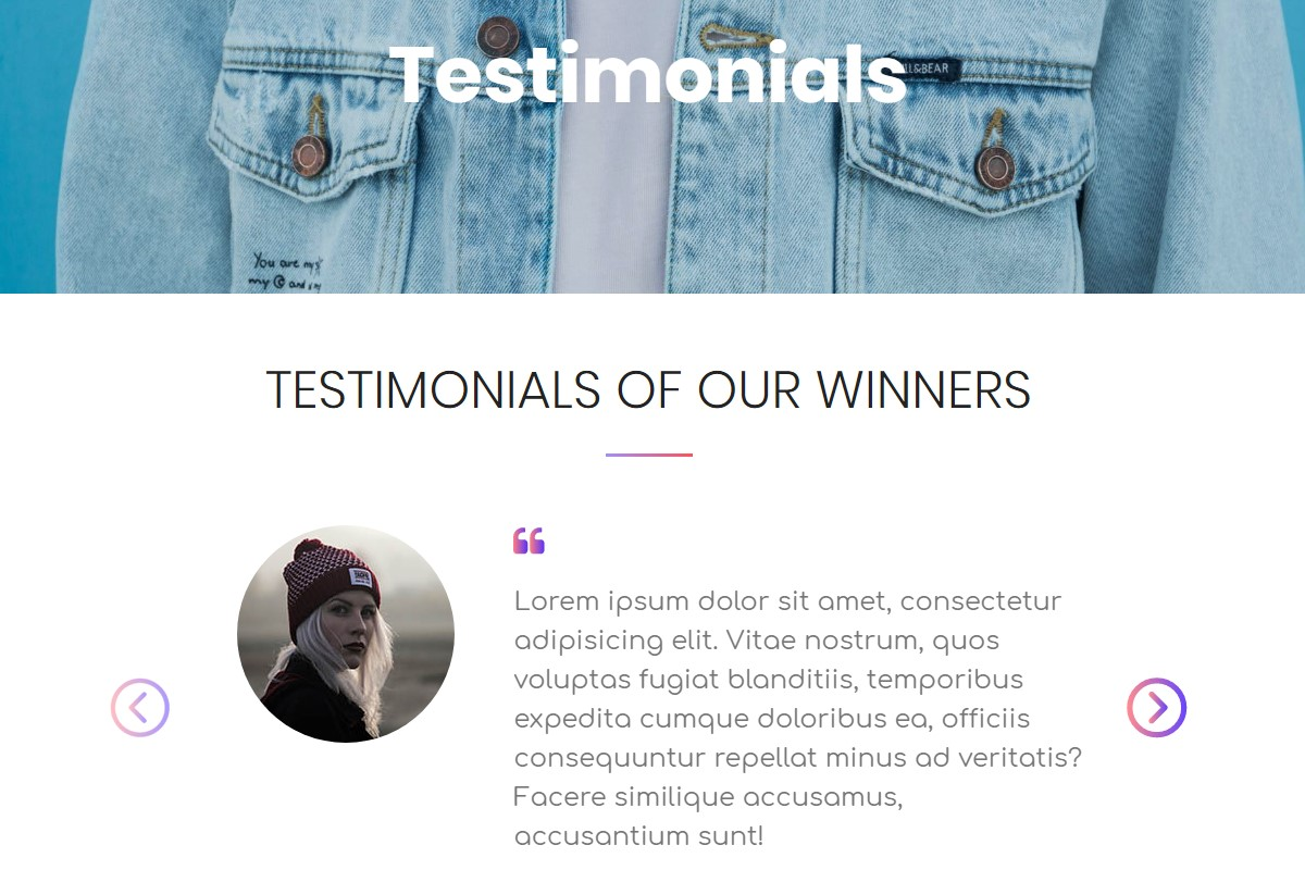 Visitor testimonials HTML Template