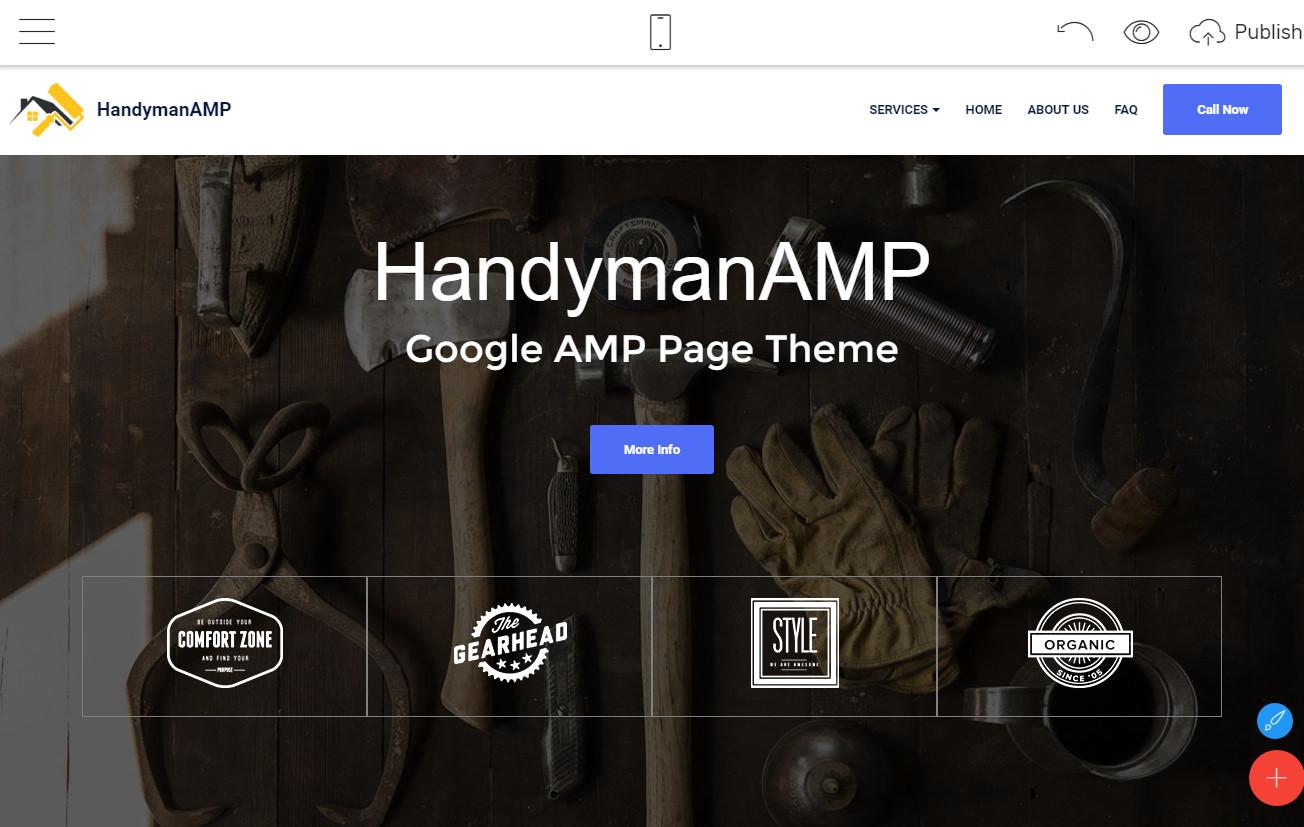 google amp page theme