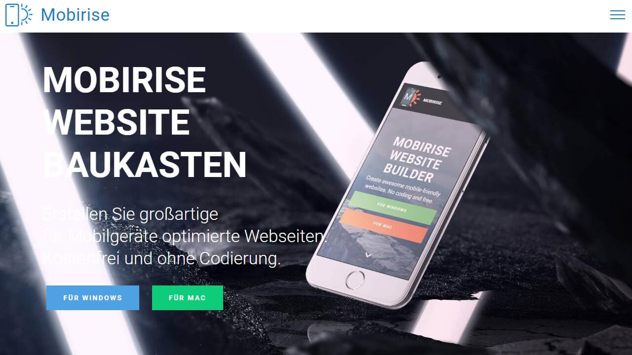 Mobirise Website-Baukasten
